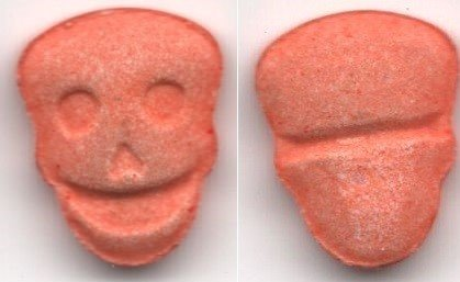 "ALERT: ""SKULL"" pill with METHAMPHETAMINE and N-ETHYL-PENTYLONE"